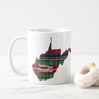 Home For Christmas West Virginia Mug