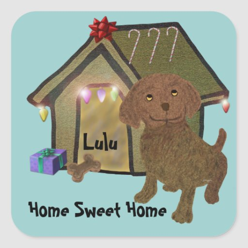 Home for the Holidays Square Sticker