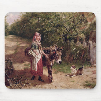 Home from Market (oil on canvas) Mouse Mat
