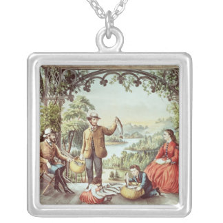 Home from the Brook, The Lucky Fishermen Silver Plated Necklace