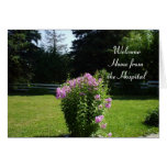 Home from the Hospital-Pink Flowers Greeting Card