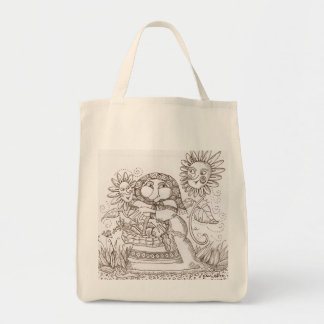 Home From the Market  Ukrainian Fantasy Art Tote Bag