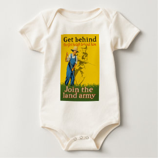 Home Front Join the Land Army WWI Propaganda Baby Bodysuit