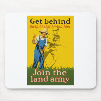 Home Front Join the Land Army WWI Propaganda Mouse Pad
