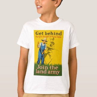Home Front Join the Land Army WWI Propaganda Tshirt