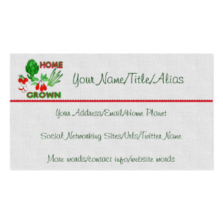Home Grown Pack Of Standard Business Cards