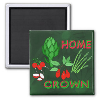 Home Grown Square Magnet