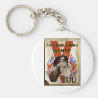 Home Guard Poster Basic Round Button Key Ring