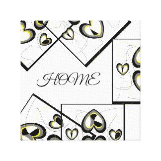 Home Heart Design Canvas Print