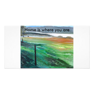 Home, Home is where you are Personalized Photo Card