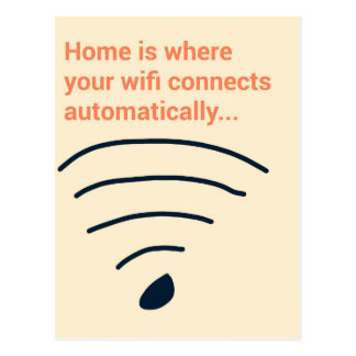Home ice where wifi connects postcard
