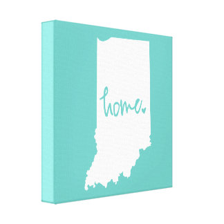 Home Indiana Custom Color Canvas Print