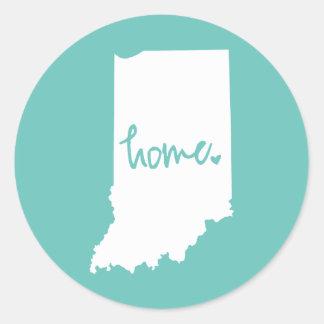 Home Indiana Custom Color Classic Round Sticker