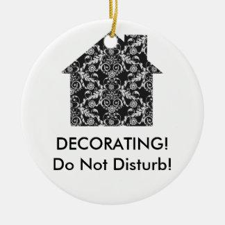 Home Interior Decorator Round Ceramic Decoration
