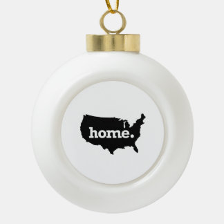 Home is Home Ceramic Ball Decoration