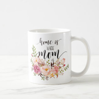 """Home is where mom is"" mother's day/birthday gift Coffee Mug"