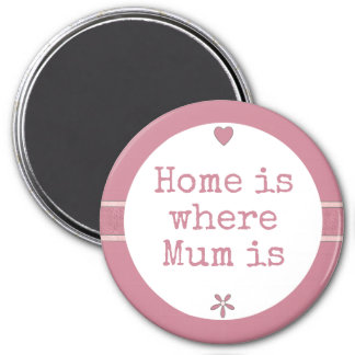 Home is where Mum is pink Magnet