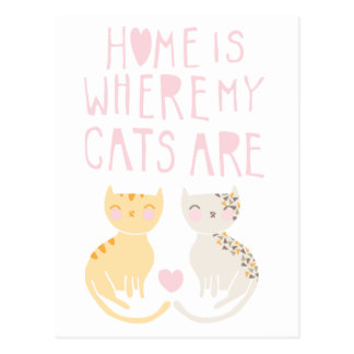 Home Is Where My Cats Are Postcard