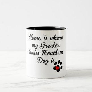 Home Is Where My Greater Swiss Mountain Dog Is Coffee Mug