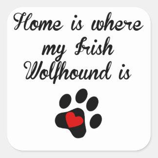Home Is Where My Irish Wolfhound Is Sticker