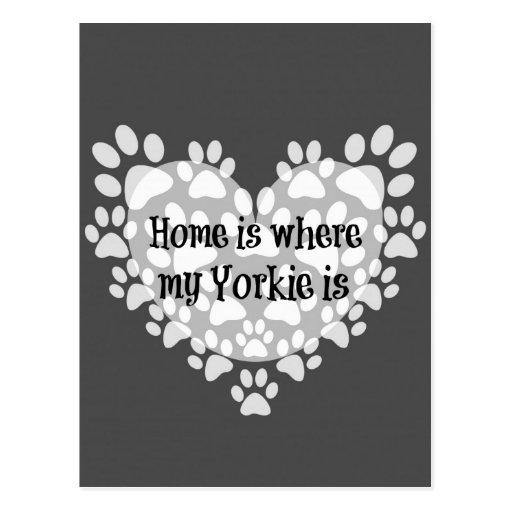 Home is where my Yorkie is Quote Postcards