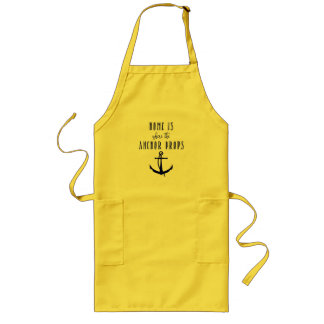 Home is where the Anchor Drops Chef Apron