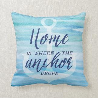 Home is Where the Anchor Drops Cushion