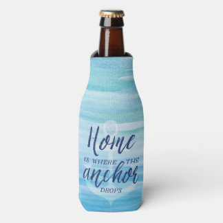 Home is where the Anchor Drops (Personalized) Bottle Cooler