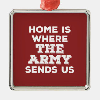 Home is Where the Army Sends Us Premium Ornament