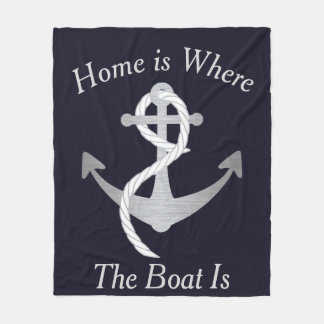 Home Is Where the Boat Is Nautical Blanket