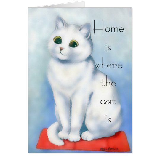 Home is Where the Cat Is Card