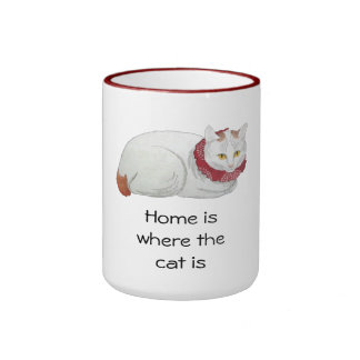 Home is Where the Cat Is Japanese Cat Art Gift Mug