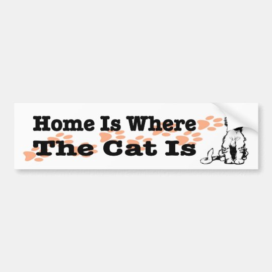 Home Is Where the Cat Is sticker for cat people