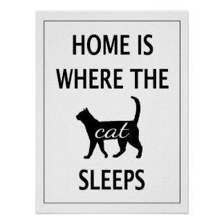 Home is Where the Cat Sleeps Poster