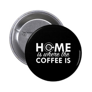 Home Is Where The Coffee Is 6 Cm Round Badge