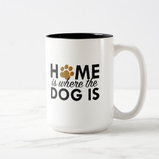 Home Is Where The Dog Is Two-Tone Mug