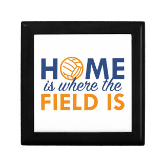 Home Is Where The Field Is Small Square Gift Box