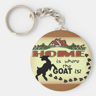 HOME IS WHERE THE GOAT IS KEY RING