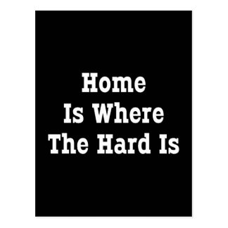 Home Is Where The Hard Is Postcard