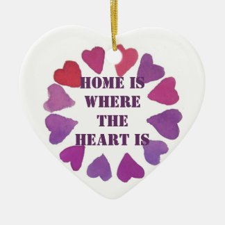 home is where the heart is heart pendent christmas ornament