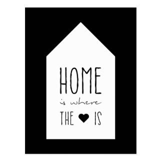 Home Is Where The Heart Is - Inspirational Card Postcard