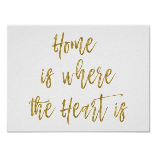 Home is Where the Heart Is Inspirational Quote