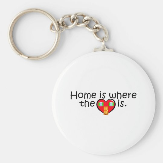 Home Is Where The Heart Is Key Ring