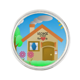 Home is Where the Heart is Lapel Pin
