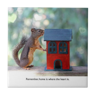 Home is Where the Heart Is Squirrel Tile
