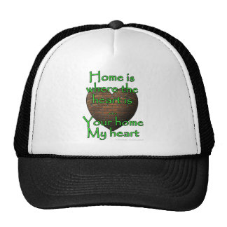 Home is where the heart is...Your home My heart Cap