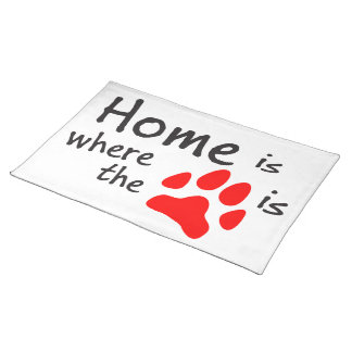 Home is where the paw print is place mats