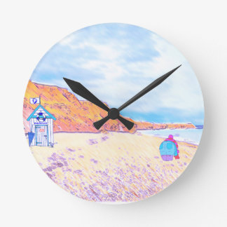 Home is where the Seaglass Is - Seaham England Round Clock