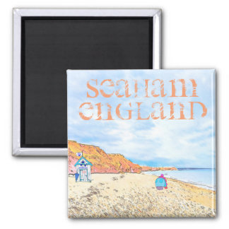 Home is where the Seaglass Is - Seaham England Square Magnet