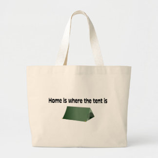 Home Is Where The Tent Is Canvas Bag